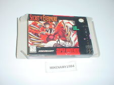 SECRET OF EVERMORE game BOX ONLY - Super Nintendo SNES - NO GAME or MANUAL