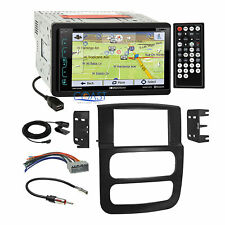 Soundstream DVD GPS Bluetooth Stereo Dash Kit Wire Harness for 02-05 Dodge Ram