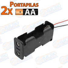 PORTAPILAS 2x 1+1 AA R6 3v con cable alimentacion PCB battery holder