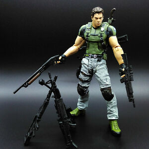 NECA Resident Evil 5 Chris Redfield 7 inch Action Figure Collection New