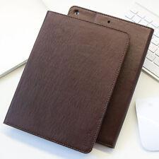 Premium Leder Cover Apple iPad 2017 Tablet Schutzhülle Case Tasche Etui braun