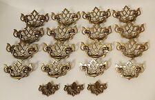 16 KBC Batwing Queen Anne Drop Bail Drawer Pulls + 3 Faux Keyholes 19353 & 19351
