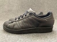 Adidas Superstar women's shoes size 5.5 black flats boots trainers EU 38.5