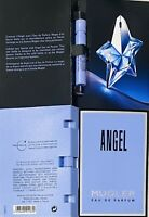 2xMugler Angel by Thiery Mugler Eau de Parfum spray sample vials .04oz/1.2ml Ea.