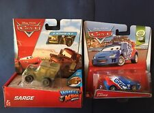 Disney Cars Raoul Caroule GRC & Sarge Wheel Action Drivers New