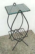 Mid Century Modern TABLE vintage metal mesh outdoor patio porch 50s