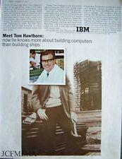 1965 'IBM 1130' Computer System Tom Hawthorn Advert (523L) Original Print AD
