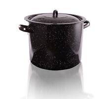 Deep Enamel Coated Steel Stock Soup Pot 30 L Commercial Stew Casserole Brew Pan