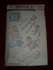 1957 ADVANCE #8218 - INFANT LAYETTE - CRIB SHEET-BLANKET-SACQUE-ROBE PATTERN  OZ