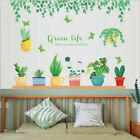 Removable Green Plant Leaves Branch Wall Sticker Mural Wall Decal Home Decor Eh