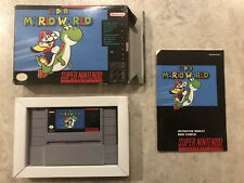 Super Mario World ( Super Nintendo ) SNES • Complete in Box • CIB • Black Label