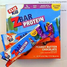 80 CLIF KID ENERGY PROTEIN Z BAR PEANUT BUTTER CHOCOLATE 08AUG19 NEW FAST DEL-RY
