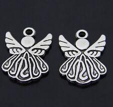 PJ036 15pc Tibetan Silver Angel Charm Beads Pendant Jewellery Making Wholesale