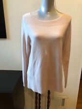 NEW Nanette Lepore 100% Cashmere Sweater Dusty Pink Size L Boat Neck