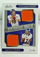Peyton Manning/Champ Bailey 2020 Panini Absolute Historical Duals Jersey #'d/49