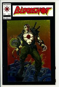 Bloodshot #1 VF- Valiant (1993) -First Solo Series -1st Chrome-Enhanced Cover