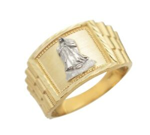 Men's 10K Yellow & White Gold Two Tone Guadalupe Ring