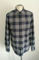 Mens Farah Smart Casual Long Sleeve Check Shirt - Size Medium