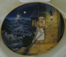 "Cinderella ""Dreams Do Come True"" Decorative Plate Franklin Mint Guilding Edge"