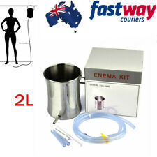 2l Reusable Home Enema Colonic Irrigation Kit Bucket Detox Barrel Douche 2m Tube