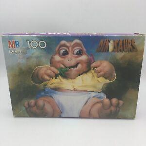 Vintage Dinosaurs TV Show MB Puzzle 100 Piece Complete Disney Sinclair Baby Mama