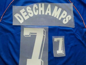 Flocage DESCHAMPS n°7 feutrine pour maillot équipe de France bleu patch shirt