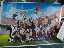VINTAGE LG 1994 FIFA WORLD CUP POSTER WARNER BROS CARTOON CHARACTERS MADE IN USA