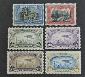 nystamps Mexico Stamp # 492.493 CO12-CO15 Mint OG H/NH $55   L30y844