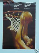 ORIGINAL POSTER  MONTREAL 1976 OLYMPIC : BASKETBALL