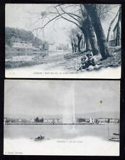 Switzerland GENEVA 2 u/b early topo PPCs