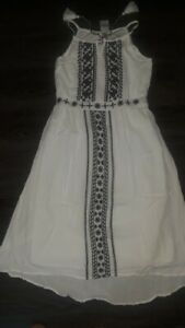 Girls justice white embroidered maxi dress size 10 new