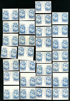 US Stamps # 768a VF Lot of 40 horiz. pairs w/ vert. gutters Scott Value $320.00