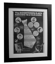 BOOMTOWN RATS+LP+ALBUM+No 1+POSTER+AD+RARE+ORIGINAL 1977+FRAMED+FAST+GLOBAL SHIP