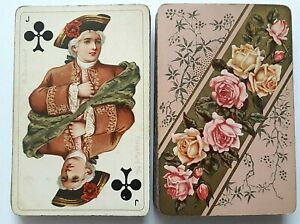 ANTIQUE PLAYING CARDS DONDORF a/M No 160 BARONESSE NO INDEX 52 DECK 1900