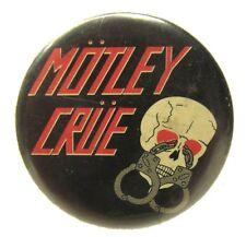 """1983 MOTLEY CRUE 1.25"""" celluloid pinback button"""