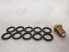 MAGNETIC Oil Drain Plug + Metal-Rubber Gasket Washer MR81 (Set of 10) for Volvo