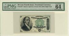 Fractional Currency Banknote 50 Cents Fr-1379 1863 PMG 64 CHOICE UNC
