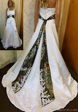 2018 New Camo Ball Gown Wedding Dresses Camouflage Beaded Appliques Bridal Gowns