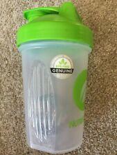 Pre-owned Nutrisystem Shaker Blender Bottle 20 oz. Green & Clear Great Condition
