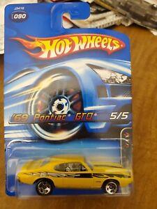 2006 Hot Wheels Yellow 69 Pontiac Mowtown Metal Col#090