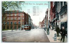 1907 Main Street, Downtown Springfield, Ma Postcard