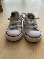 Converse Baby Size 4 White Leather