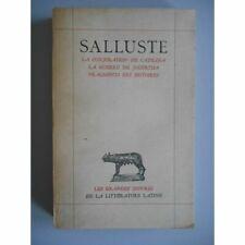 La conjuration de Catilina La guerre de Jugurtha ... / Salluste / Réf58935