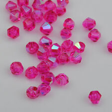100pcs rose ab exquisite Glass Crystal 4mm #5301 Bicone Beads loose beads