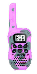 Uniden 80 Channel Handheld Radio with Kid Zone – Pink Camouflage