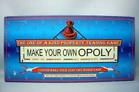 Make Your Own Oploy Monopoly Board Game Hasbro Printer required (Complete) game