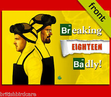 BREAKING BAD 18th Autograph Signed Birthday Card Reproduction Print