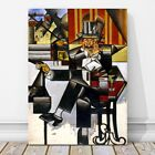 "JUAN GRIS Art - Man in a Cafe CANVAS PRINT 12x8"" - Cubist, Cubism, Abstract"