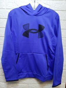 Under Armour Boys Fleece Hoodie Emotion Blue/Black Size Large