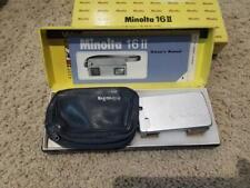 Vintage Minolta 16 II Spy Camera - Complete Outfit - NOS